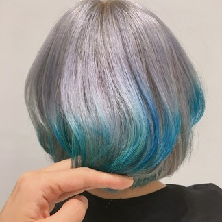 silver-blue color